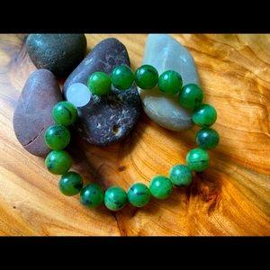Genuine Jade Nephrite Beaded Bracelet